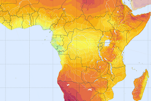PV Power Potential - Sub Saharan Africa 300 x 200